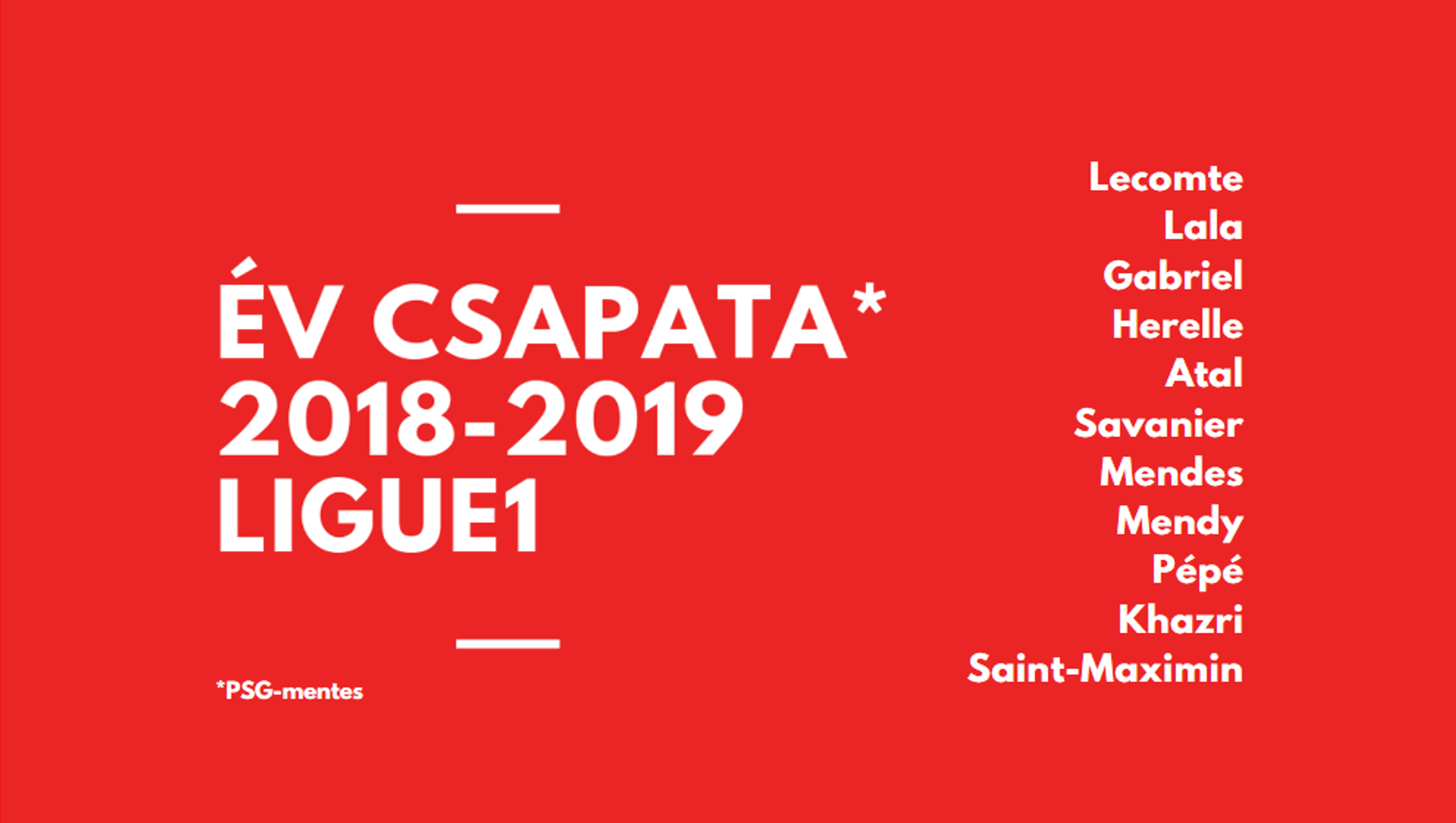 év csapata Ligue1